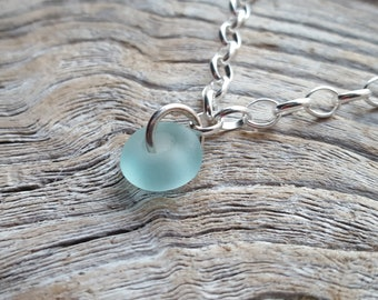 from Imogen/'s Beach Sterling Silver and Seaham Banded Honey Amber Sea Glass Pendant Necklace