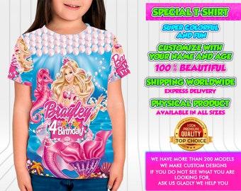 79e8c8937bcdf9 Barbie Birthday Shirt