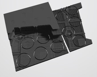 Custom Unpainted Mag-Tray -  Industrial  (Right tile)