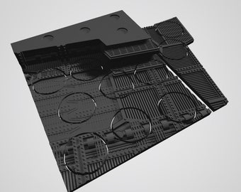 Custom Unpainted Mag-Tray -  Industrial  (center tile)
