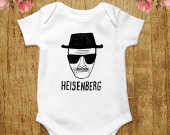 4e5bc66c9 Heisenberg Baby Bodysuit Funny Baby Shirt Breaking Bad Baby Clothes Walter  White T-shirt Child Infant Romper Baby Grow Baby One Piece Gift