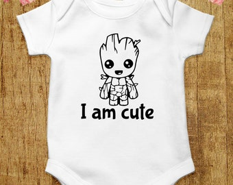 bd4b3120 Cute Groot Baby Bodysuit Guardians Of the Galaxy Baby Clothes Avengers Baby Shirt  Marvel Baby Outfit Groot Shirt Baby Romper Baby One Piece