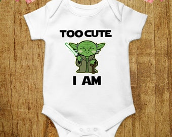 98a50563b Star Wars Cute Yoda Funny Baby Bodysuit Geek Baby Clothes Star Wars Baby  Shirt Yoda Baby Outfit Romper Vest New Dad Gift Baby Shower Gift