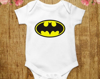 cf81bf5aa Batman Baby Bodysuit Funny Baby Shirt Batman Baby Clothes Baby Boy Outfit  Superhero T-shirt Infant Romper Baby Grow Baby One Piece Gift