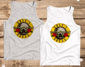 3269eaf8c910be Guns And Roses Tank Top GNR Shirt WOMENS MENS Hard Rock T shirt Heavy Metal  Tee Rock Band T-shirt Axl Rose Tshirt Slash Shirt Concert Tee