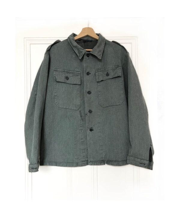 Vintage Men's Swiss Prisoner Army Denim Jacket