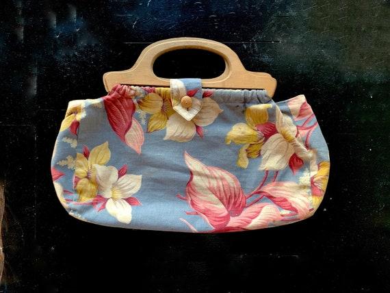 Vintage Barkcloth Hawaiian Floral Print Barkcloth