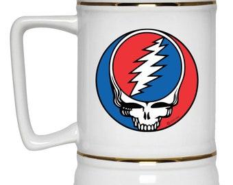 Grateful Dead Cyclops 22 oz Ceramic Grateful Dead Beer Stein by Not Fade Away offered through Grateful Tortuga