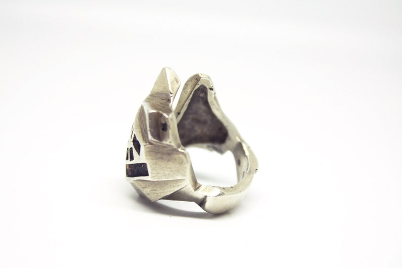 Powerful statement ring Beautiful meteor ring City ring Anillo hombre Bague homme Bague femme Brut ring Handmade mountain ring