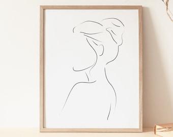 Line Art Woman Print, Minimal Woman Line, Female Poster, Minimalist Print, Woman Line Drawing, Abstract Line Art, Modern Print, Simple Line