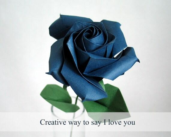 origami flower easy: origami rose easy   456x570