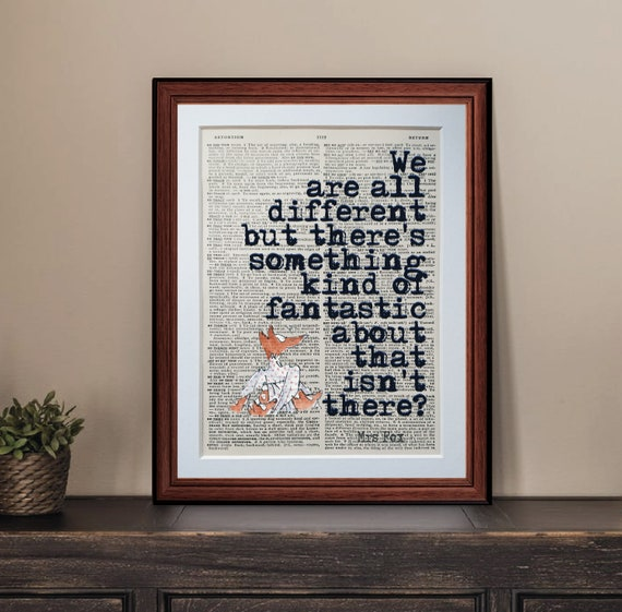 Fantastic Mr Fox Quote Dictionary Page Art Print Vintage Etsy