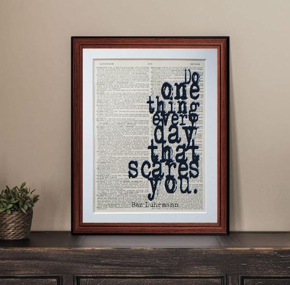 SunScreen Colour QUOTE print wall art poster literary Baz Luhrmann lyrics