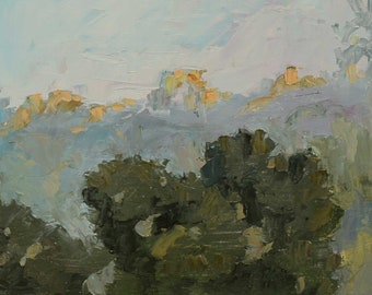 Late Canyon Glow, Small oil painting, Plein aire landscape painting, Nature scene