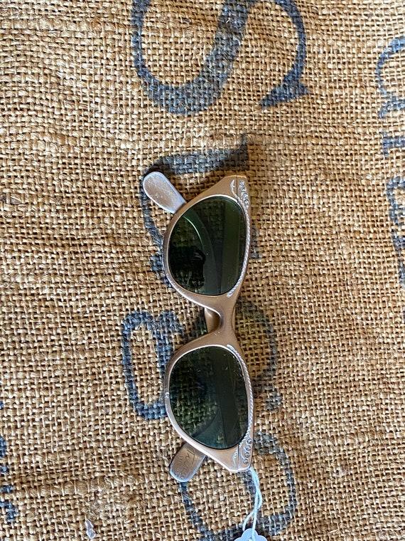 Tura 1950s Cat Eye Aluminum Sunglasses