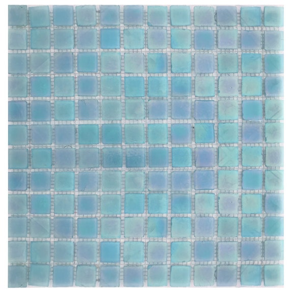 Raffi Glass Raffi Glass Gold Dust 1 x 1 Rough Edge Iridescent Glass Tile