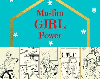 Islamic Activity book, Islamic book for kids, Eid gift, Muslim Girl Book
