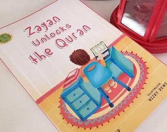 Islamic books for kids, Zayan unlocks the Quran, Muslim kids book, Quran, Quran stories, Ramadan