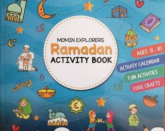 Ramadan Activity Book, Activity Calendar, islamic crafts, Eid/Ramadan decorations