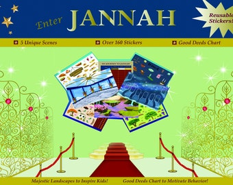 IMPERFECTLY-PERFECT Islamic products for kids, Enter Jannah, Eid basket, Muslim kids crafts, Islamic crafts, Islamic stickers
