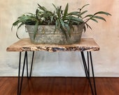 Live Edge End Table - Hairpin End Table - Wood End Table - Night Stand - End Table - Rustic End Table - Modern End Table