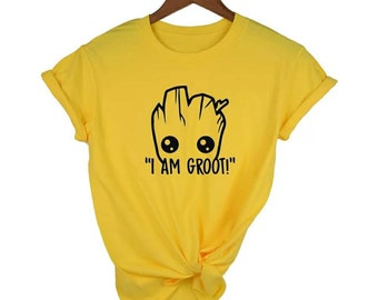 0b44e399 I Am Groot To shirt Avengers Endgame Guardians of The Galaxy Cute T shirt  Clothes Clothing