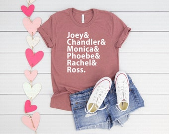 e44ae2af0 Friends T Shirt Mauve - Friends TV Show - Ross Rachel T shirt - The One  Where You Theres FREE SHIPPING - Comfy Shirt - Unisex Shirt