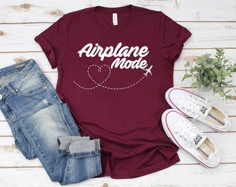 ea86a5677 Airplane Mode T shirt - Vacation Shirt - Vacation T shirt - Vacation  Airplane Mode - Unisex Shirt - FREE SHIPPING -
