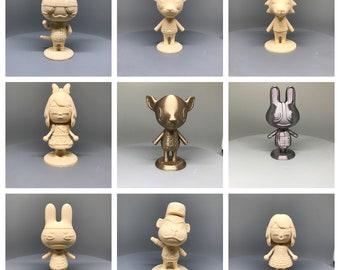 Selection #6 - Animal Crossing New Horizon 3D Printed Figurines Amiibo 10cm - Beau Villager Dotty Fauna Genji Porter Punchy Wolfgang