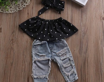 ec0766686482a Kids ripped jeans | Etsy