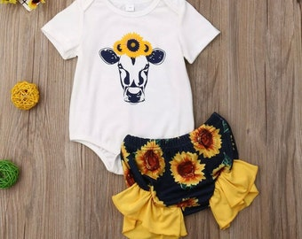 7da006a5c0b7 Girls Southern Sunflower Outfit