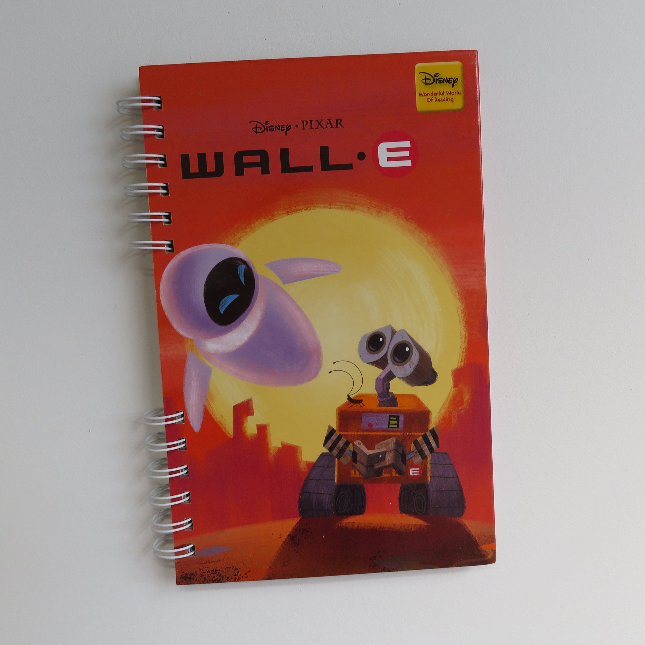 Pixar WALL E Lined Journal - Handmade Upcycled Storybook Journal -  Disney/Pixar