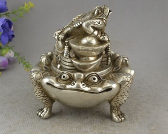 Home Decor Home & Garden Chinese Feng Shui Lucky Money 3 Legs Toad Frog Incense Burner Statue For Frog Toad Coin Home Office Decor Miniature Figurines