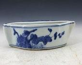 Rare Chinese Jun Kiln porcelain Ancient Ashtray statue Kangxi mark