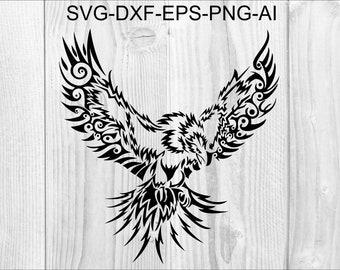 Phoenix bird stencil   Etsy