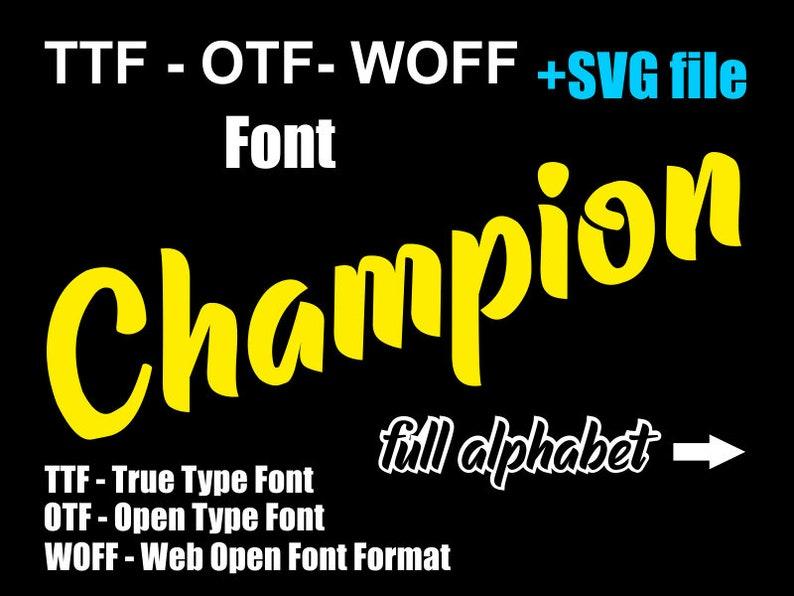 Champion SVG font, TTF font, Installable font, OTF font, woff font, digital  font, Cricut font, Silhouette Cameo font