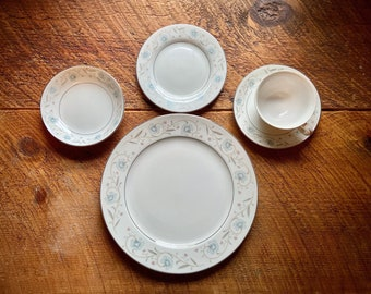 Vintage Dinner Plates English Garden Set of 5 Fine China Made in Japan panchosporch