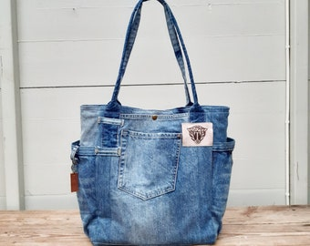 Stepping Stones Recycled Denim Pouch