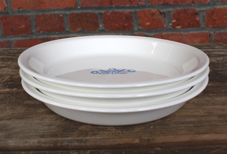 Sold Individually at Whispering City RVA #381 Corning Ware 9 Pie Baking Dish SHIPS FREE Vintage Corningware Blue Cornflower #P-309