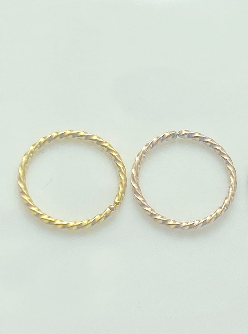 No Piercing Needed Buy Two Get One Free! Fake Septum Carved Rose Gold Ball End Nose Hoop Ring Gold Nose Cuff Non Pierced Jewellery