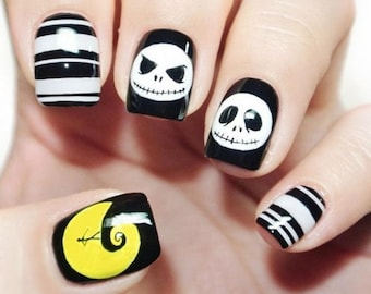 Nightmare Before Christmas Nails Etsy