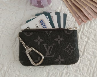 cd66113aa5ca Handmade Louis Vuitton Genuine Leather KeyChain Purse Wallet Handmade  Leather Card Wallet