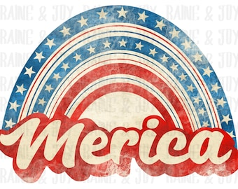 Vintage Merica png, Retro Merica png, Merica png, 4th of July png, 4th of July png files for Sublimation, Sublimation design, png files
