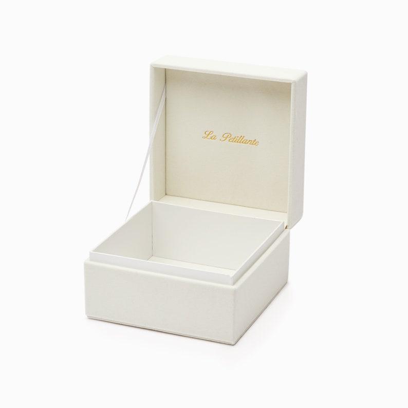 La Petillante\u00ae Velvet Jewelry Box for Small Tiara  Simple Tiara Box  Velvet Tiara Case  Cream White Tiara Box  Velvet Tiara Gift Box