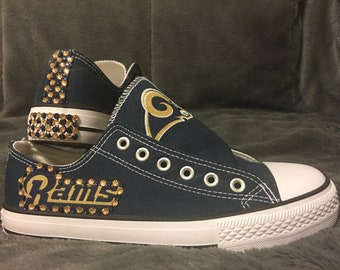2f510f07b3df NFL RAMS Bling Converse-like WOMEN S Shoes!