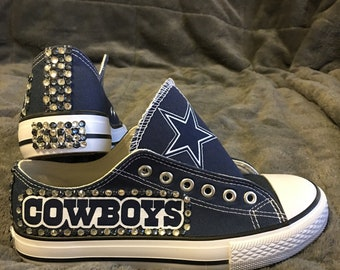 ece608b09efa NFL COWBOYS Bling Converse-like WOMEN S Shoes!