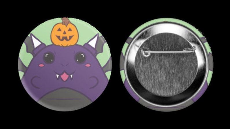 Kawaii Buttons Rainbow Pride Dragiri Spoopy Dragon Dragpaca