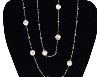 Ippolita Sterling and Mother of Pearl Necklace. From the Ippolita Rock Candy Collection. Signed.