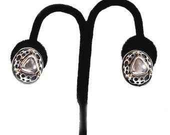 Dian Malouf 14K Sterling Clip-on Earrings