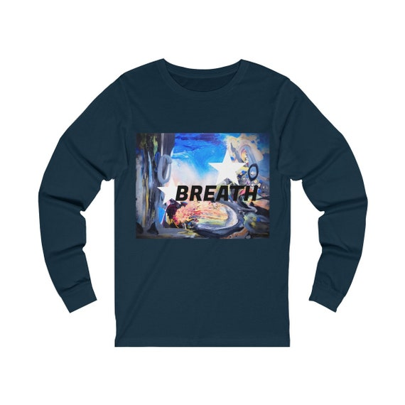 Artsy Fashion. Breath. Unique Unisex Jersey Long Sleeve Tee. Inspiring. Artistically. Breathe!